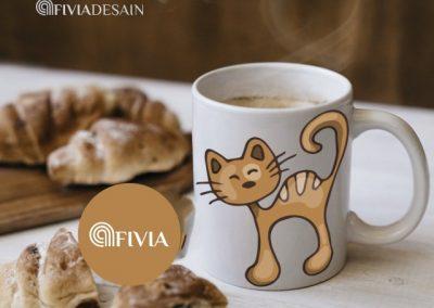 M1 Mug desain cute by Afivia Design 1